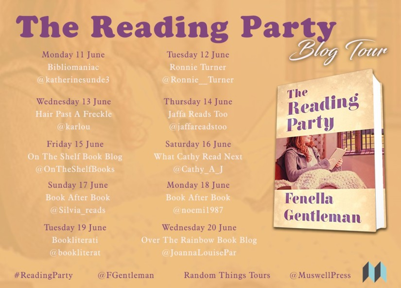 The Reading Party Blog Tour poster