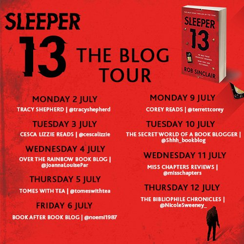 Sleeper 13 blog tour banner