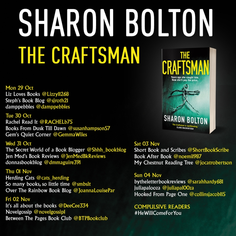The Craftsman paperback blog tour