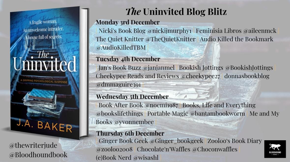 The Uninvited Blog Blitz banner