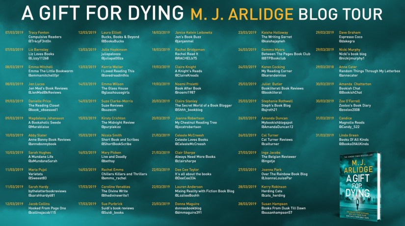 MJ Arlidge Blog Tour