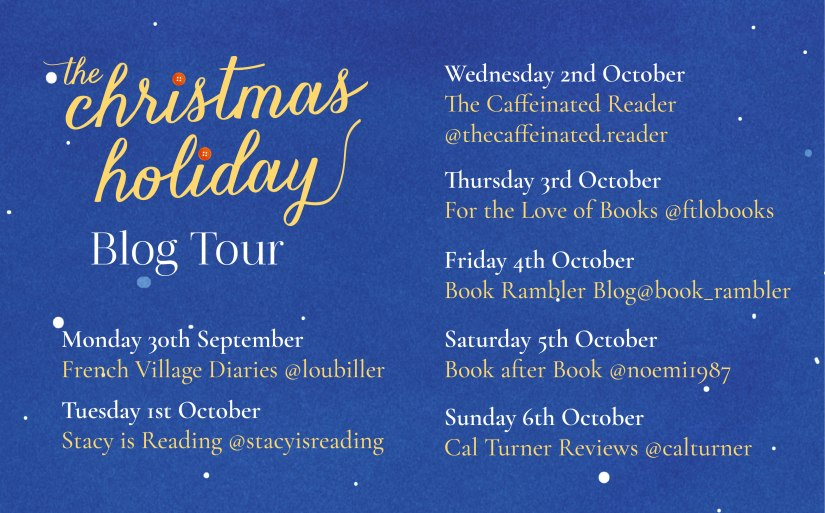 The Christmas Holiday blog tour poster