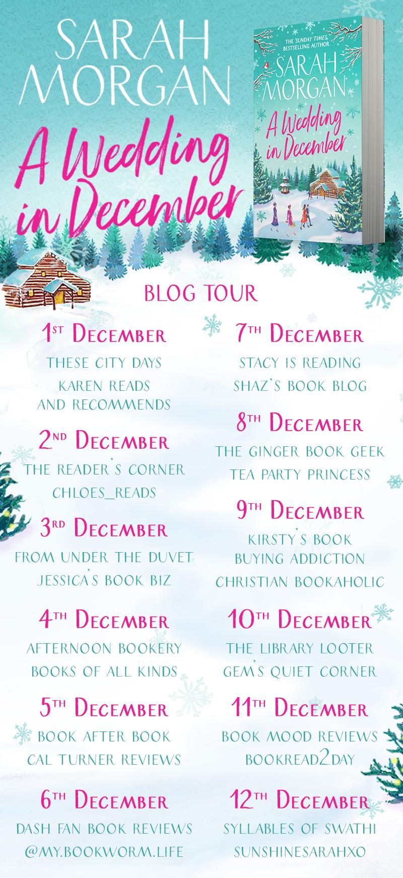 A Wedding in December Blog Tour Banner